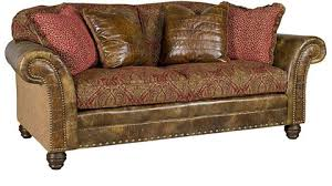 Leather With Fabric Sofas Katherine Leather Fabric Sofa 9700 Lf King Hickory Array From