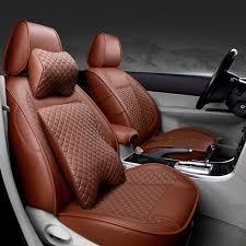 housse de siege en cuir pour voiture avant arrière spécial housses de siège de voiture en cuir pour
