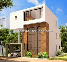 Row House Front Elevation - modern triplex house outer elevation design in andhra pradesh