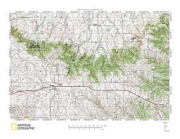 National Geographic Topo Maps Hat Creek White River Drainage Divide Area Landform Origins