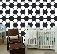baby boy nursery wallpaper soccer ball pattern wall mural