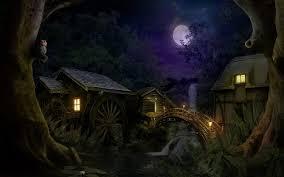 dark village wallpaper mountain village at night walldevil