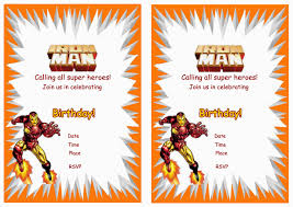 iron man birthday invitations u2013 birthday printable