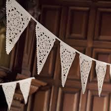 Bunting Flags Wedding Lace Wedding Bunting By Baloolah Bunting Notonthehighstreet Com