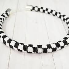 black beaded rope necklace images Best crochet beaded rope necklace patterns products on wanelo jpg