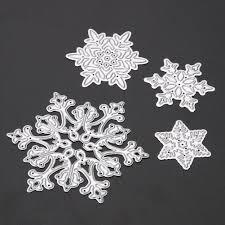 aliexpress com buy 4pcs snowflake cutting dies christmas metal