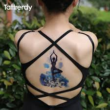 yoga tattoo pictures waterproof temporary tattoo yoga indian blue tattoos flash on body