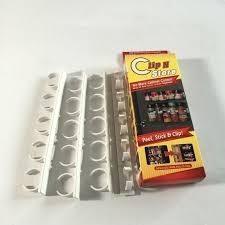Cabinet Door Clips Spice Store Organizer Rack 20 Cabinet Door Spice Clips N Store