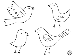dough ornaments from coloring page bird outline bird