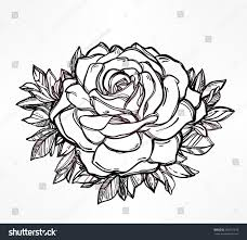 vintage floral highly detailed hand drawn stock vector 282101276