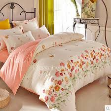 Teen Floral Bedding Beige Floral Pink Pretty Clearance Teen Bedding Sets Obqsn072409