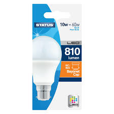 60w led light bulb status 10w 60w led gls bc b22 bulb available at this is it stores uk