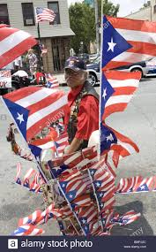 Customized Flag Man With His Customized 1949 Schwinn Bicycle At The Puerto Rican