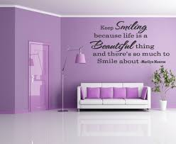 wall decor quotes by marilyn monroe home design living room