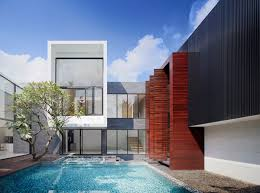 2 house with pool spectacular modern house with courtyard swimming pool