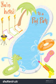 pool party invitations for kids oxsvitation com