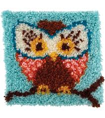 wonderart latch hook kit 12 x12 hoot hoot joann