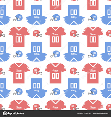 football wrapping paper seamless pattern with a football helmet and t shirts for
