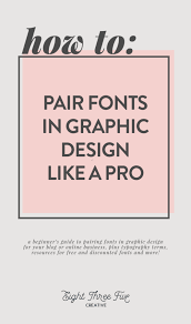 creative font design online how to font pairing for beginners eight three five