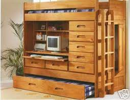 All In One Loft Twin Bunk Bed Bunk Beds Other Files Arts And - Trundle bunk bed with desk