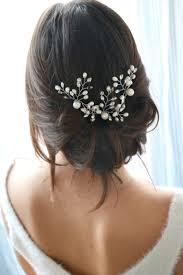 cuisiner des chignons coiffure mariage pics à chignon de perles cheveux de mariée