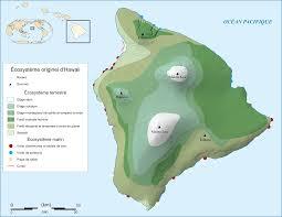 Map Of Hawaii Island File Hawaii Island Ecosystem Native Map Fr Svg Wikimedia Commons