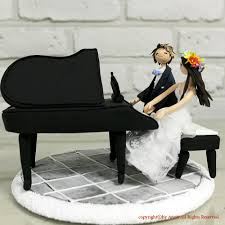 piano custom wedding cake topper decoration gift