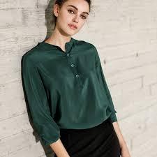womens silk blouses 100 silk blouse solid sleeve blouses silk