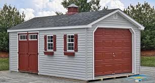 Gambrel Roof Garages by 1 Car Prefab Garage One Car Garage Horizon Structures