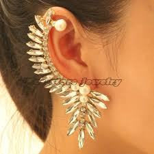 feather stud earrings 2017 2016 new exaggerated turkey feather stud earrings for
