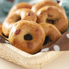 How To Use The Bread Machine Cranberry Orange Bagels Recipe Taste Of Home