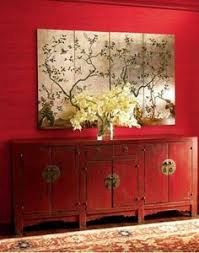 Chinese Style Home Decor Chinese Red Antique Two Door Two Drawer Carved Wedding Cabinet