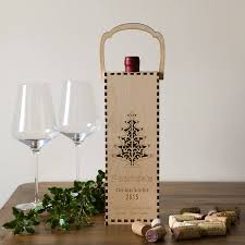 wine bottle gift box personalised wooden wine bottle gift box by gift store
