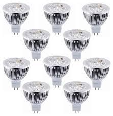 lot of 10 dimmable 12v 4w mr16 led bulbs 50watt equivalent