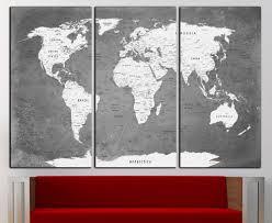 World Map Wall Decor Map Wall Art U2014 Crafthubs