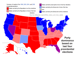 1996 Presidential Election Map by Political Party Dominance And Voter Id Requirements