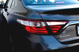2015 toyota camry tail light 2015 2016 toyota camry led scarlet red tail lights rear ls set