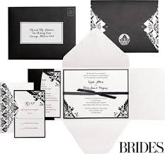 brides invitation kits black white damask printable wedding invitations kit 30ct
