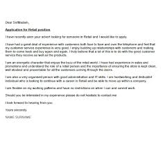 awesome cover letter for retail position 35 in cover letter sample