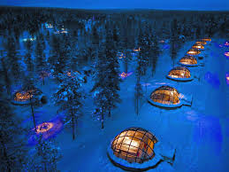 finland northern lights hotel see the northern lights in this finnish glass igloo business insider