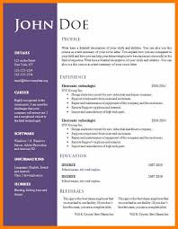 word document resume templates free download cv resume download doc resume template doc download free free 6