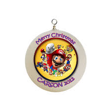 personalized super mario brothers x mas ornament 2