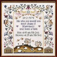 115 best cross stitch baby announcements images on