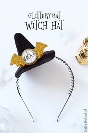 bat headband witch hat diy with glittery bat consumer crafts