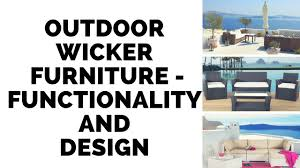 outdoor furniture all weather resin wicker by velago youtube
