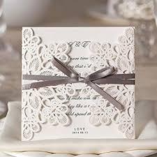 wedding invitations cards wishmade 50x square laser cut wedding invitations