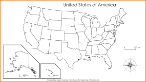 Blank Usa Map by Tim Van De Vall Comics Printables For Kids Studying State