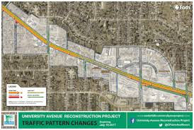 Wisconsin Road Construction Map by University Avenue Reconstruction Cedar Falls Iowa Home