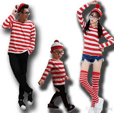 2017 costume family clothes set where s wally