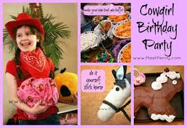 Horse Birthday Decorations Cowgirl Themed Birthday Party Meet Penny